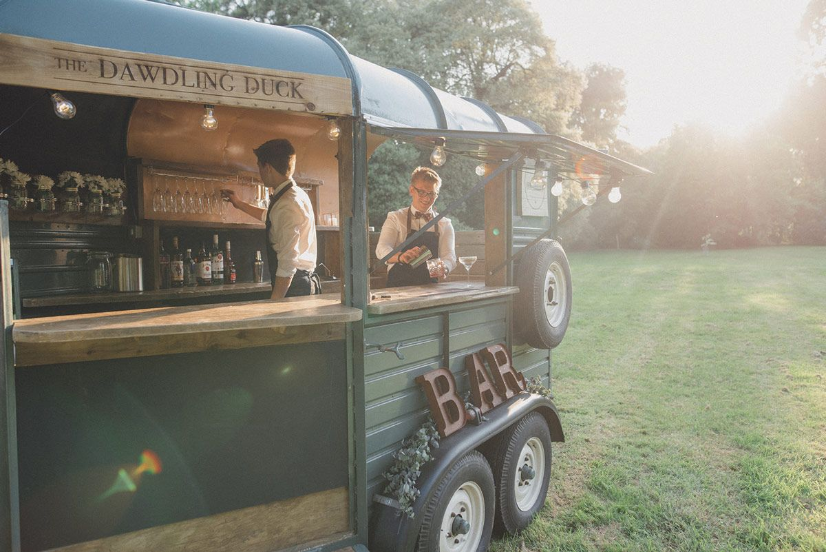 Mobile bar at The Manor Gardens