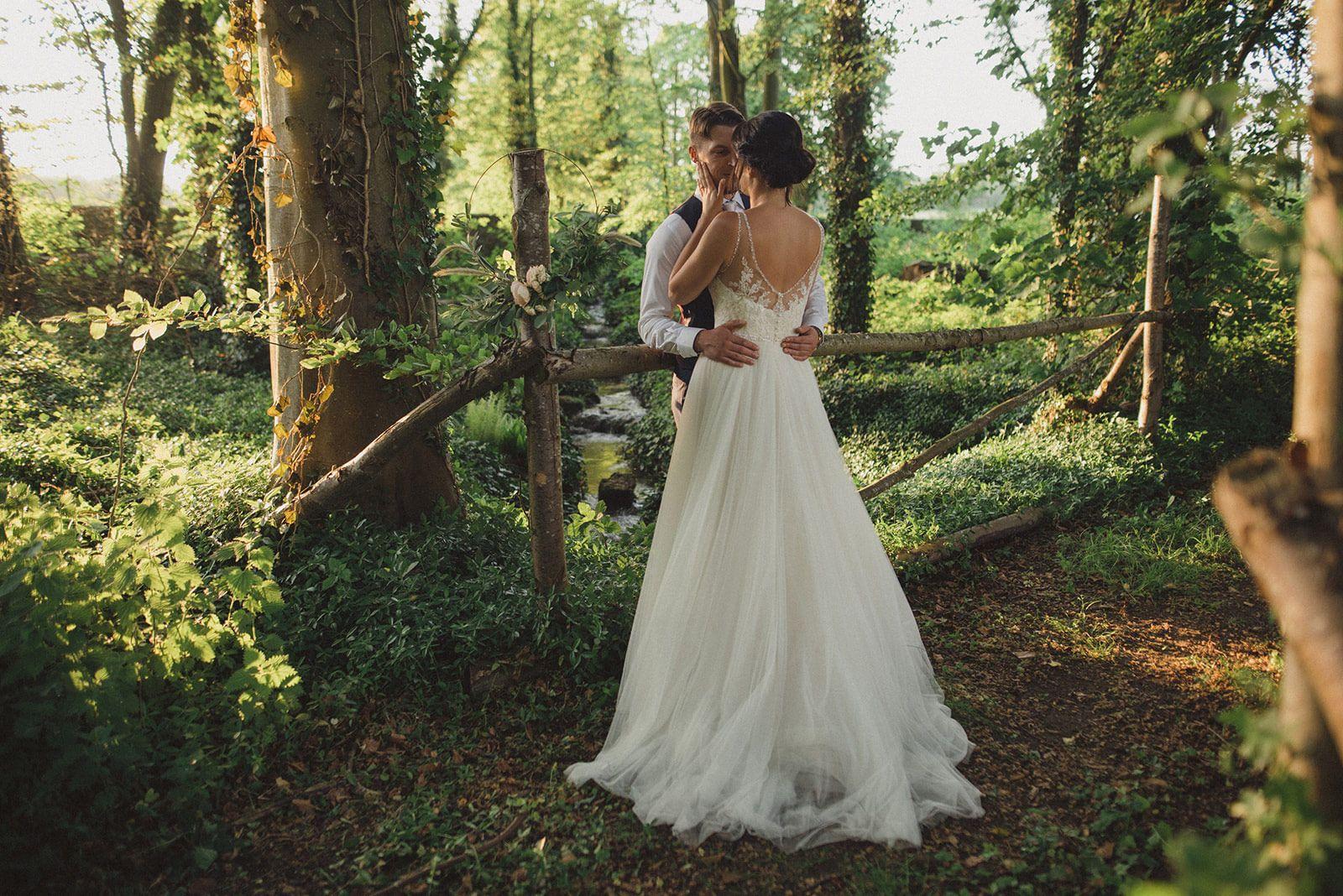Manor Gardens Woodland Wedding Couple