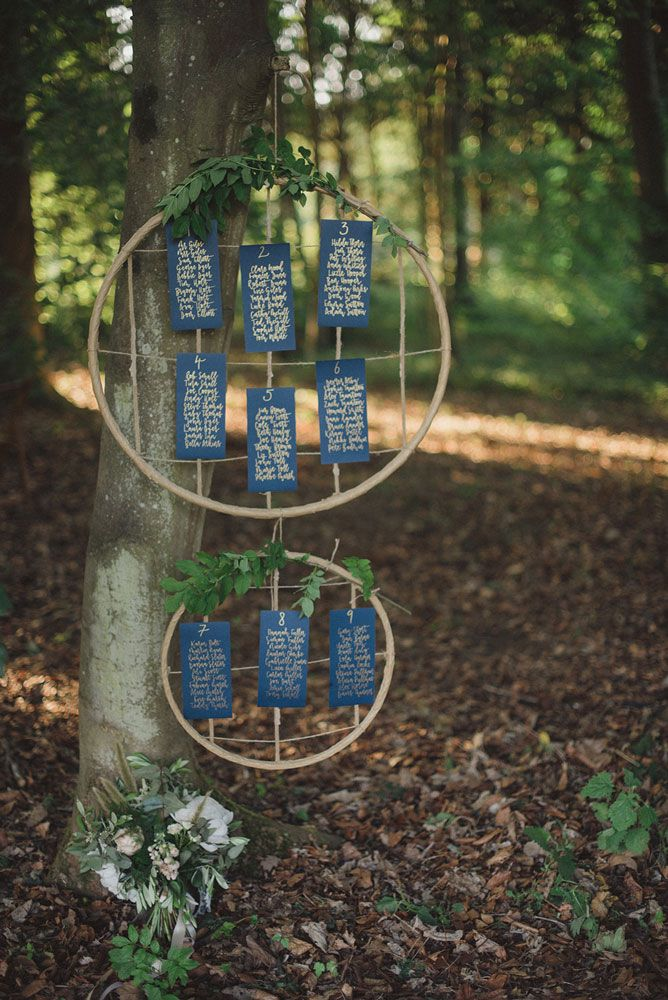 Made by Jo woodland wedding table plan