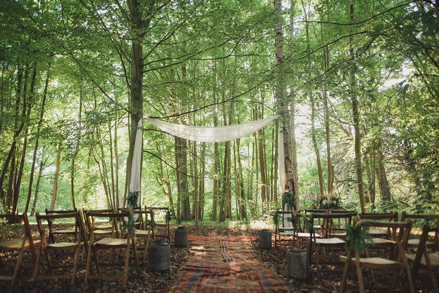 Woodland Ceremony Set-up